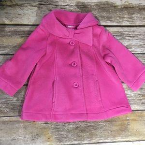 Gymboree Jackets & Coats - Gymboree Jacket Fleece Pink Pea Coat Toddler Girl